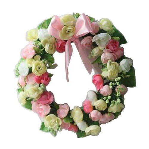 Artificial Wreath Hanging Floral Garland Door Wreath Wedding Decor #12