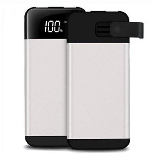ARIO®20000mAh PowerBank2USB LCD screen for all mobile phones (White)