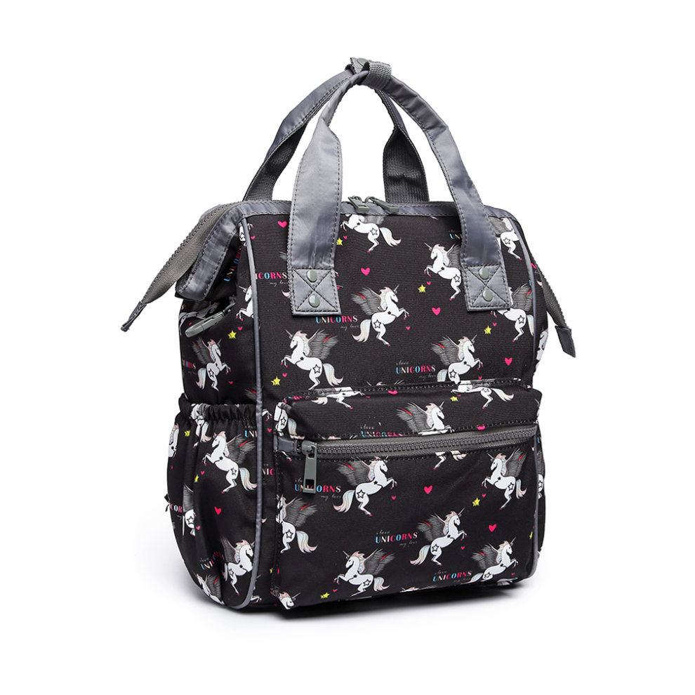 c6f54c986f ... Miss Lulu Unicorn Backpack School Bag for Boys Girls Children with  Pencil Case Black - 7 ...