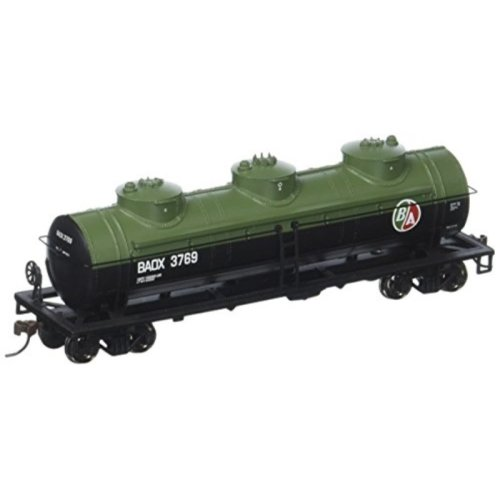 Bachmann Industries 3769 British American Oil #Baox 40 Three-Dome Tank Car (HO Scale Train)