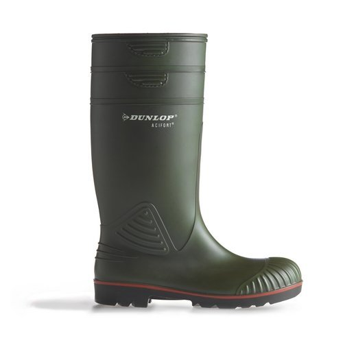 Dunlop A44263106 Acifort Heavy Duty Green Safety Wellingtons Size 6