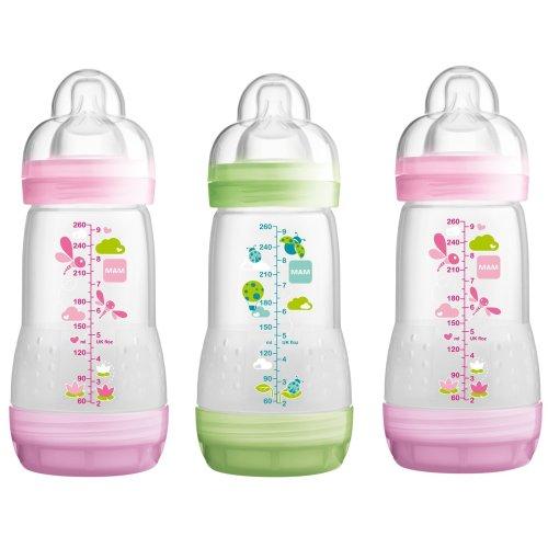 Mam Anti-colic 260ml Bottle - 3pk Girl