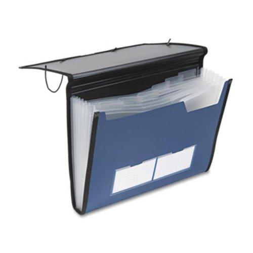 Professional Expanding Document Organizer- Letter- 7 Pockets- Blue