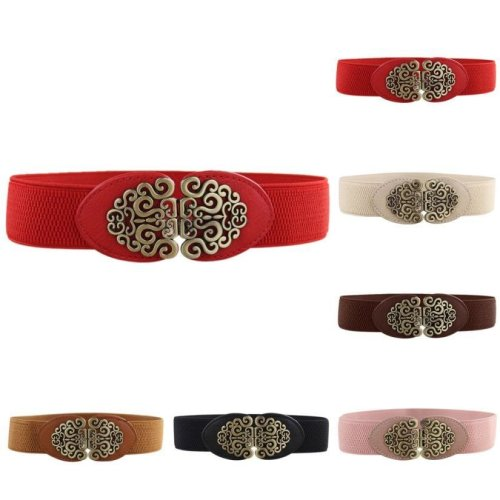 Alloy Flower Vintage Leather Belt Belt Straps For Women jy16
