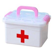 Creative Multi-purpose Medicine Box Lovely Medicine Chest,Pink Handle