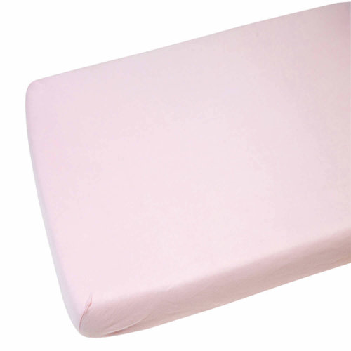 2x Crib Jersey Cradle Fitted Sheet 100% Cotton 40 x 90cm Pink