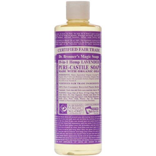 Dr Bronner Org Lavender Castile Liquid Soap 237ml