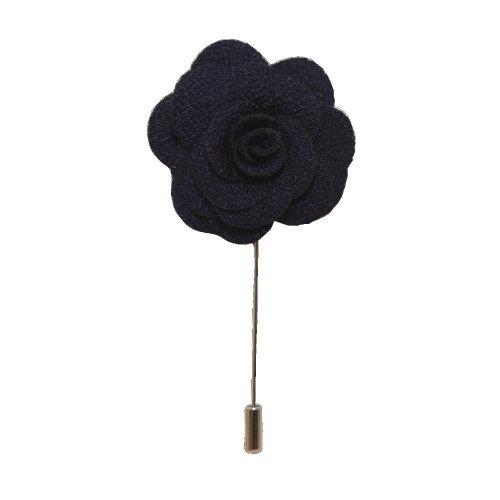 Dark Purple Handmade Flower/Rose Lapel Pin for wearing with men's suit jacket, blazer, dinner jacket or tuxedo jacket