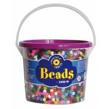 Pbx2455960 - Playbox - Beads in Bucket (10 Colour Mix) - 5000 Pcs