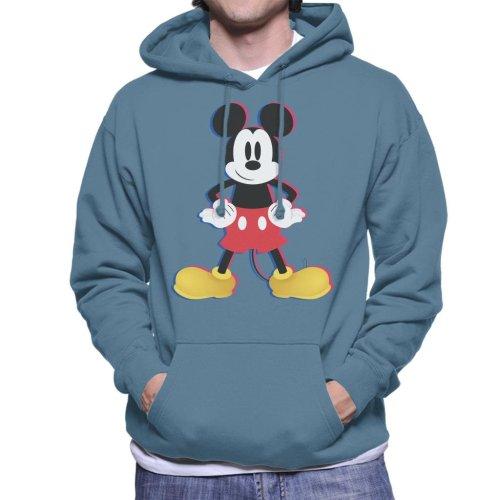 Disney Mickey Mouse 3D Effect Pose Men's Hooded Sweatshirt