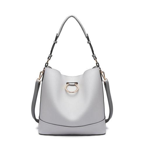 Miss Lulu Women Hobo Shoulder Bag Handbag Tote Purse Set 2 Piece Grey