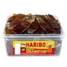 Haribo Giant Cola Bottles - 60 Pieces per Tub