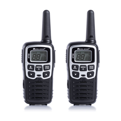 Portable PMR radio station Midland XT50 set 2bc gray code C1178 includes batteries