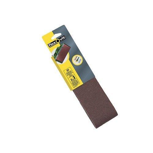 Flexovit 63642526466 Cloth Sanding Belts 533mm x 75mm 50g Coarse Pack of 2