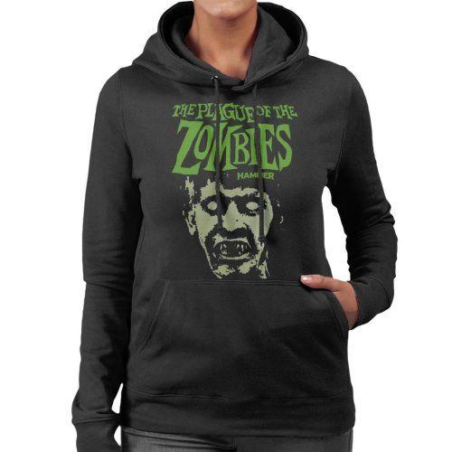 Hammer The Plague Of The Zombies Face Poster Women's Hooded Sweatshirt