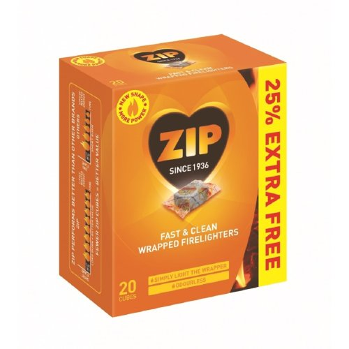 Fast and Clean Wrapped Firelighters Pack 16 Plus 25% Free