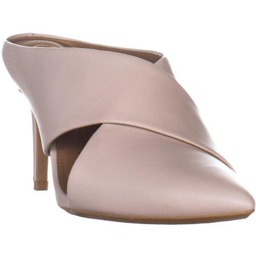 Calvin Klein Gilliana Crss Strap Mule Sandals, Soft White, 5.5 UK