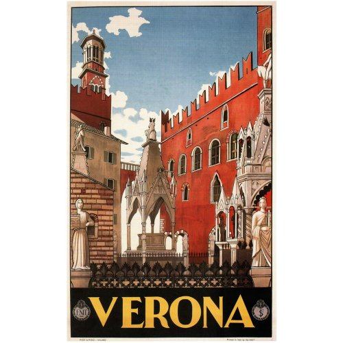Advertising poster - Verona - High definition printing on stainless steel plate