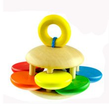 Toddler Musical Toy/Musical Instrument, Solid Wood Sun Flower