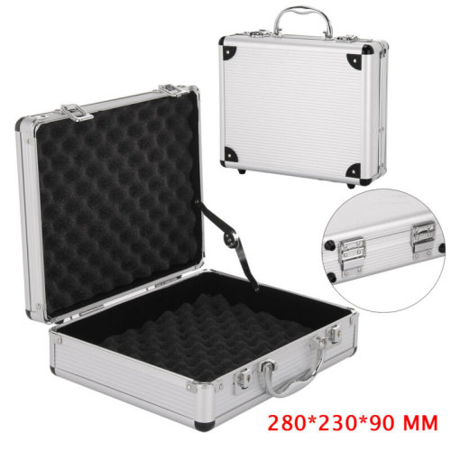 Aluminium Pistol Gun Case Hard Flight Case Tool Foam Portable Secure Storage Box