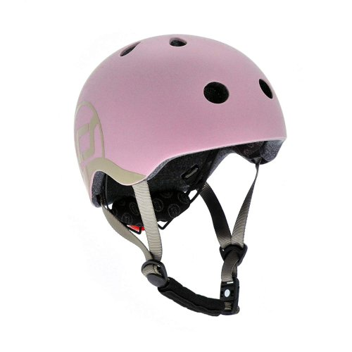 Scoot and Ride Safety Helmet With LED Light Rose