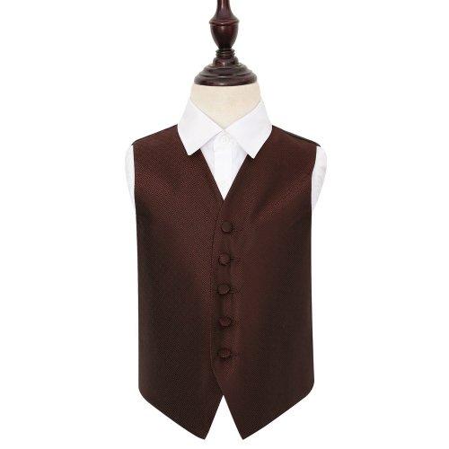 Burgundy Greek Key Wedding Waistcoat for Boys 24'