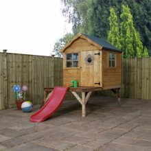 4x4 Playhouse with Tower & Slide
