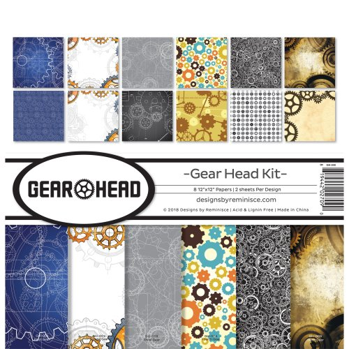 """Reminisce Collection Kit 12""""X12""""-Gear Head"""