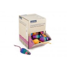 Designed For Cats Display Box Stripey Mice (Pack of 48)