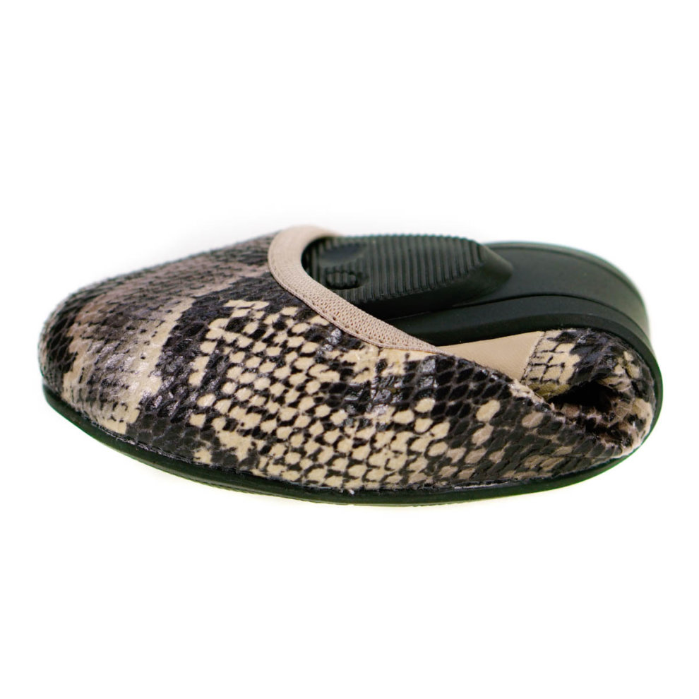 f4ce57bc9 ... Butterfly Twists Foldable Ladies Flat Shoes Stone - 2 ...