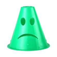 10Pcs Slalom Cones Skating Cone Traffic/ Training Cones/ Markers/ Barrier-Green