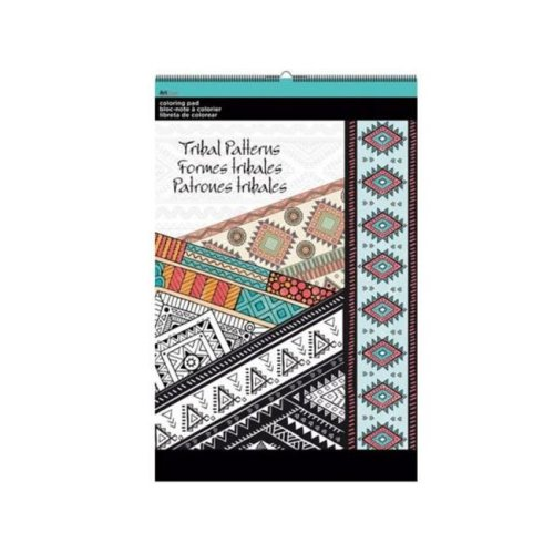 Kole Imports OT763-16 11 x 17 in. Tribal Patterns Large Coloring Pad - Pack of 16