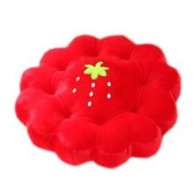 Cute Plush Seat Cushions Extra Soft Back Chair Pad  for Kitchen Office Car?Strawberry