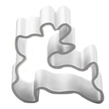 3 Pcs Deer Pattern Aluminum DIY Baking Mold Cookies Cut