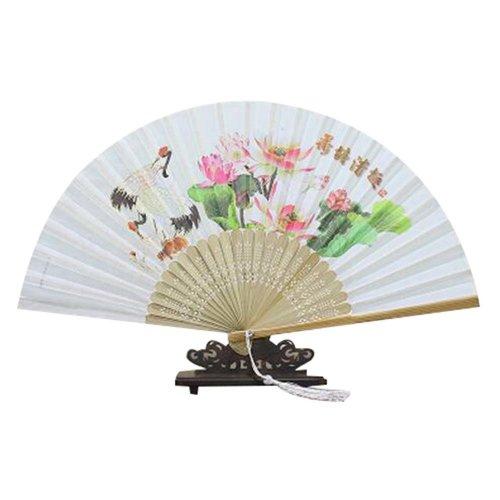"""Elegant Folding Handheld Fan 8.27""""(21cm) Women's Beautiful Handheld Fan Gift"""