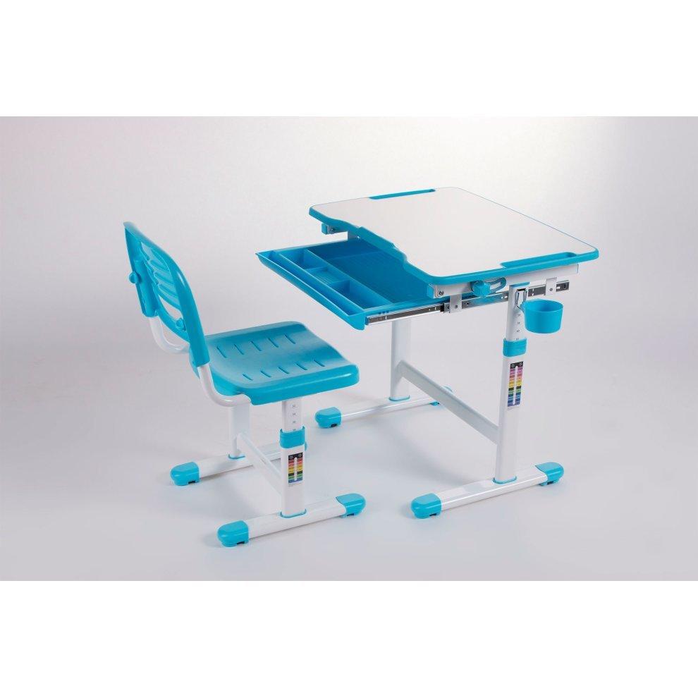 Ergonomic Kids Desk Chair Height Adjule Children Table Mini Blue 7