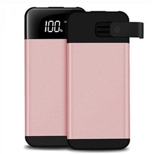 ARIO®20000mAh PowerBank2USB LCD screen for all mobile phones (pink)