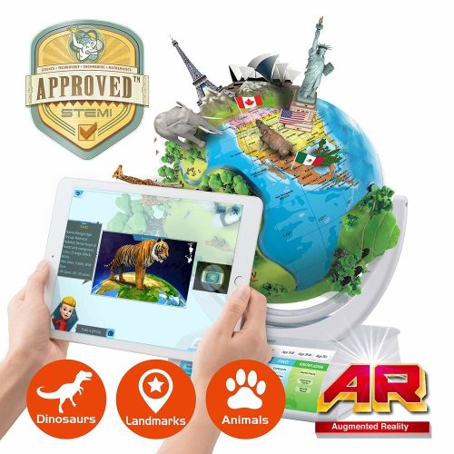 Oregon Scientific Smart Globe Explorer SG338R - Interactive Open SmartGlobe with Wireless Updatable Touch Pen Technology and 3D Augmented Reality |...