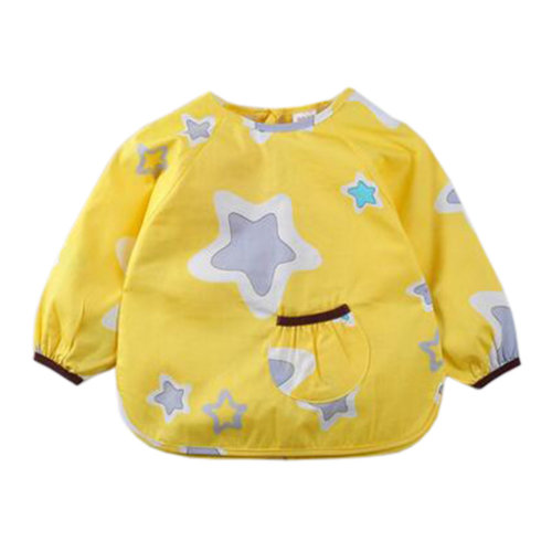 Lovely Baby Bibs Feeding Bib Kid's Apron Overclothes Waterproof Long Sleeves Art Smock NO.14