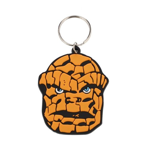 The Thing (face) - Marvel Rubber Keyring Face Keychain Fantastic 4 Pyramid -  marvel rubber thing keyring face keychain fantastic 4 pyramid