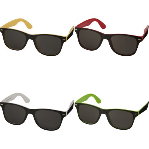 Bullet Sun Ray Sunglasses - Black With Colour Pop