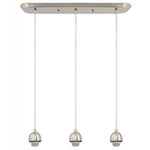 Westinghouse 6301200 Three Light Brushed Nickel Mini Interior Pendant