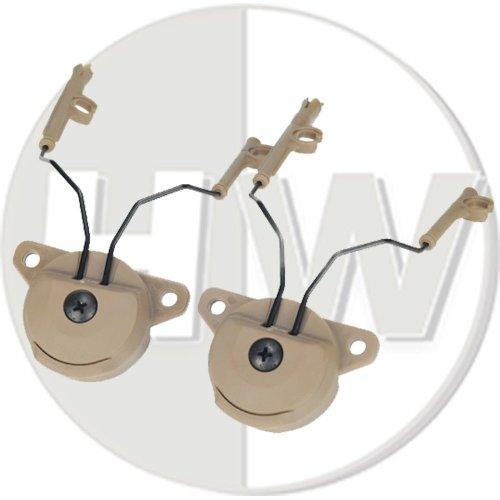 Airsoft Fma Ussf Bump Helmet Rail Adapters Set Tan De For Peltor Headset