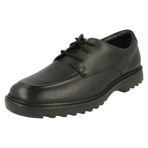 Boys Clarks Lace Up Formal Shoes Asher Grove - F Fit