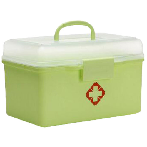 Portable Household First-Aid Kit/Medicine Storage Box Pill Organizer Green
