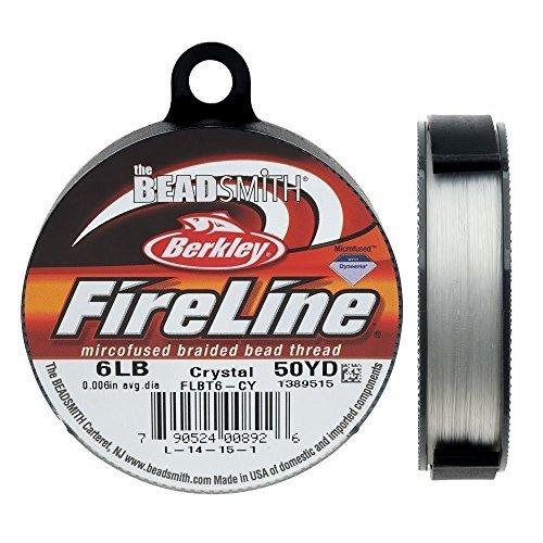Fireline XCR 1278 Crystal Braided Beading Thread 006 50 yd