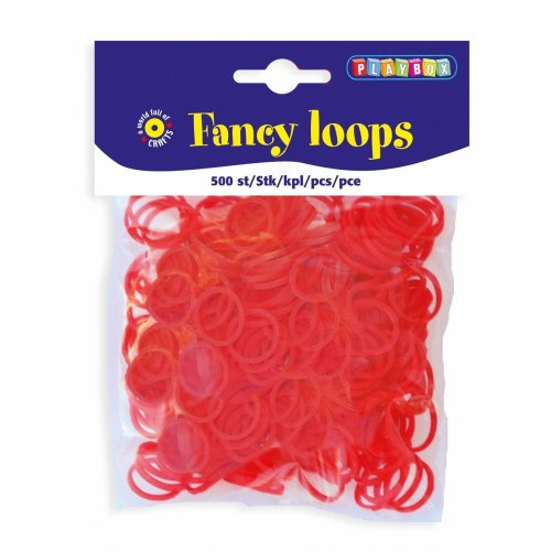 PBX2471087 - * Playbox - Loops (Loom Bands) - 500pcs red