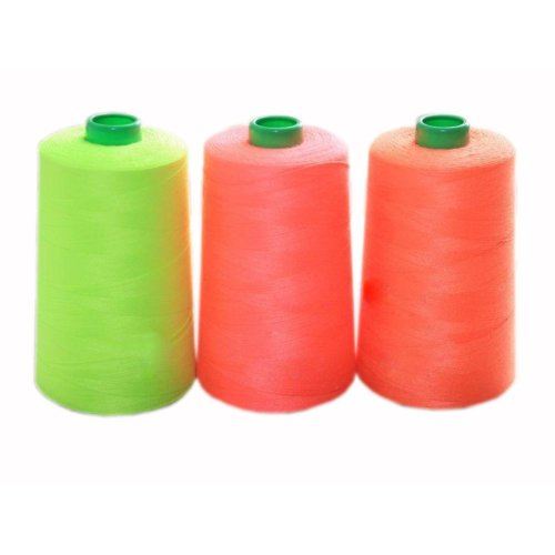 Set of 3  Assorted Spools of Polyester Sewing Thread 2000 Yards Each(200g Each)