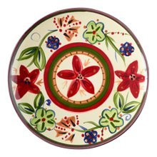2 Pcs Cartoon Flower Ceramic Hand-painted Pastry Tray Dessert Plate