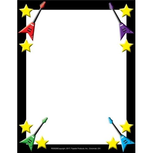 Flipside FLPRS002 Rock Star Border Paper